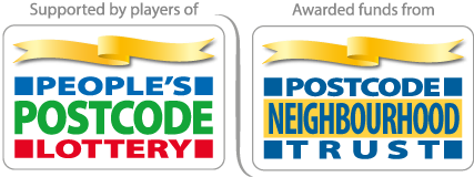 Postcode Lottery and Postcode Neighbourhood Trust logos
